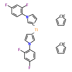 Bis(2,6-difluoro-3-(1-hydropyrrol-1-yl)phenyl)titanocene