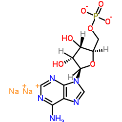 Sodium ((2R,3S,4R,5R)-5-(6-amino-9H-purin-9-yl)-3,4-dihydroxytetrahydrofuran-2-yl)methyl phosphate