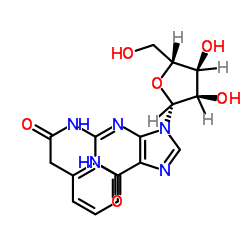 N-[9-[(2R,3R,4S,5R)-3,4-dihydroxy-5-(hydroxymethyl)oxolan-2-yl]-6-oxo-3H-purin-2-yl]-2-phenylacetamide