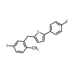 2-(4-Fluorophenyl)-5-[(5-iodo-2-Methylphenyl)methyl]thiophene