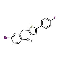 2-[(5-ブロモ-2-メチルフェニル)メチル] -5-(4-フルオロフェニル)チオフェン
