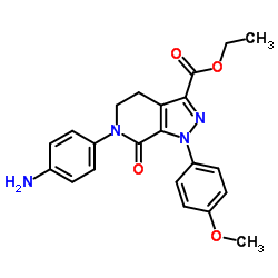 エチル6-(4-アミノフェニル)-1-(4-メトキシフェニル)-7-オキソ-4,5-ジヒドロピラゾロ[3,4-c]ピリジン-3-カルボキシラート