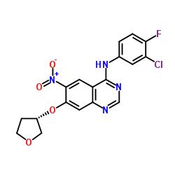 N-(3-chloro-4-fluorophenyl)-6-nitro-7-[(3S)-oxolan-3-yl]oxyquinazolin-4-amine