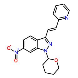 (E)-6-Nitro-3-[2-(pyridin-2-yl)ethenyl]-1-(tetrahydro-2H-pyran-2-yl)-1H-indazole