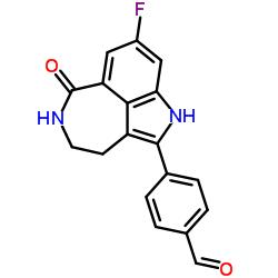 4-(8-fluoro-6-oxo-3,4,5,6-tetrahydro-1H-azepino[5,4,3-cd]indol-2-yl)benzaldeyde