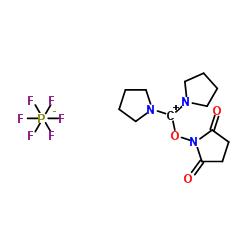 1- [ピロリジン-1-イウム-1-イリデン(ピロリジン-1-イル)メトキシ]ピロリジン-2,5-ジオン、ヘキサフルオロホスフェート