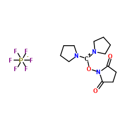 1-[pyrrolidin-1-ium-1-ylidene(pyrrolidin-1-yl)methoxy]pyrrolidine-2,5-dione,hexafluorophosphate