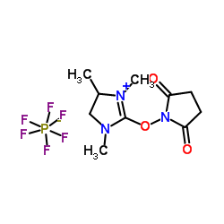 2-(2,5-dioxopyrrolidin-1-yloxy)-1,3-dimethyl-3,4,5,6-tetrahydropyrimidin-1-ium hexafluorophosphate