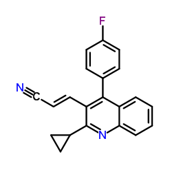 (E)-3-[2-Cyclopropyl-4-(4-fluorophenyl)-3-quinolinyl]-2-propenenitrile