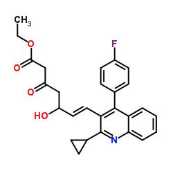 Ethyl (E)-7-[4-(4'-fluorophenyl)-2-(cyclopropyl)-3-quinolinyl]-5-hydroxy-3-oxo-6-heptenoate