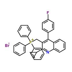 [[2-Cyclopropyl-4-(4-fluorophenyl)-3-quinolinyl]methyl]-triphenylphosphonium bromide