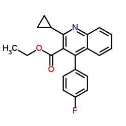 2-シクロプロピル-4-(4-フルオロフェニル)キノリン-3-カルボン酸エチル