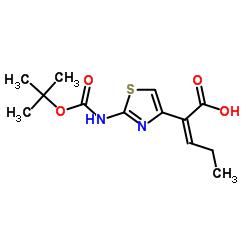 (Z)-2-(2-((tert-Butoxycarbonyl)amino)thiazol-4-yl)pent-2-enoic acid