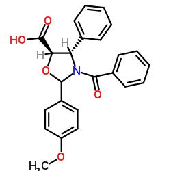 (4S,5R)-3-Benzoyl-2-(4-methoxyphenyl)-4-phenyloxazolidine-5-carboxylic acid