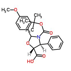 (4S、5R)-2-(4-メトキシフェニル)-3-[(2-メチルプロパン-2-イル)オキシカルボニル] -4-フェニル-1,3-オキサゾリジン-5-カルボン酸