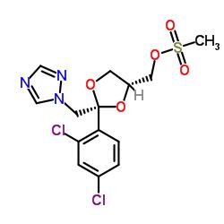 cis-2-(2,4-Dichlorophenyl)-2-(1H-1,2,4-triazol-1-ylmethyl)-1,3-dioxolan-4-ylmethyl methanesulphonate