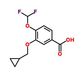 3-Cyclopropylmethoxy-4-difluoromethoxybenzoic Acid