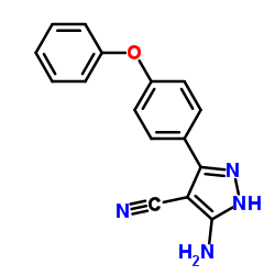 3-Amino-5-(4-phenoxyphenyl)-1H-pyrazole-4-carbonitrile