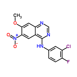 N-(3-chloro-4-fluorophenyl)-7-methoxy-6-nitroquinazolin-4-amine