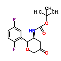 N-[(2R,3S)-2-(2,5-Difluorophenyl)tetrahydro-5-oxo-2H-pyran-3-yl]carbamic acid 1,1-dimethylethyl ester