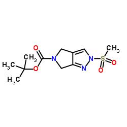 2-(Methylsulfonyl)-2,6-dihydropyrrolo[3,4-c]pyrazole-5(4H)-carboxylic acid tert-butyl ester