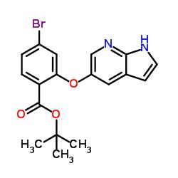 4-Bromo-2-(1H-pyrrolo[2,3-b]pyridin-5-yloxy)benzoic acid 1,1-dimethylethyl ester