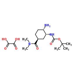 tert-ブチル[(1R、2S、5S)-2-アミノ-5-[(ジメチルアミノ)カルボニル]シクロヘキシル]カルバメートシュウ酸塩