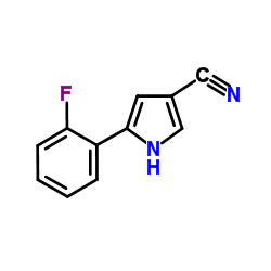 5-(2-fluorophenyl)-1H-pyrrole-3-carbonitrile