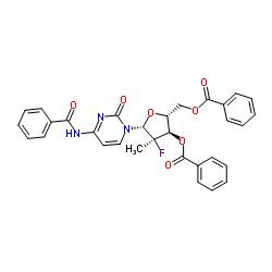 (2'R)-N-Benzoyl-2'-deoxy-2'-fluoro-2'-methylcytidine 3',5'-dibenzoate