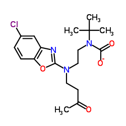 N-tert-butyl-N-[2-[(5-chloro-1,3-benzoxazol-2-yl)-(3-oxobutyl)amino]ethyl]carbamate