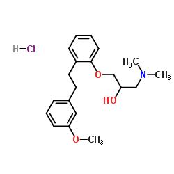 1-(ジメチルアミノ)-3-(2-(3-メトキシフェネチル)フェノキシ)プロパン-2-オール塩酸塩