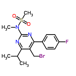 N-[5-Bromomethyl-4-(4-fluorophenyl)-6-isopropylpyrimidine-2-yl]-N-methylmethane sulfonamide