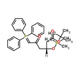 Methyl (3R)-3-(tert-butyldimethylsilyloxy)-5-oxo-6-triphenylphosphoranylidenehexanoate