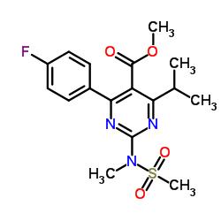 Methyl 4-(4-fluorophenyl)-6-isopropyl-2-[(N-methyl-N-methylsulfonyl)amino]pyrimidine-5-carboxylate