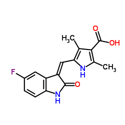 5-((Z)-(5-Fluoro-2-oxoindolin-3-ylidene)methyl)-2,4-dimethyl-1H-pyrrole-3-carboxylic acid