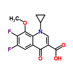1-Cyclopropyl-6,7-difluoro-1,4-dihydro-8-methoxy-4-oxo-3-quinolinecarboxylic acid