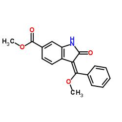 (E)-3-(メトキシ(フェニル)メチレン)-2-オキソインドリン-6-カルボン酸メチル