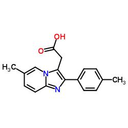 6-Methyl-2-(4-methylphenyl)imidazo[1,2-a]-pyridine-3-acetic acid