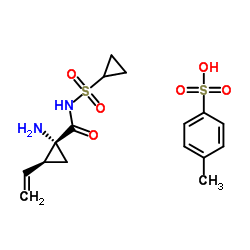 (1R,2S)-1-Amino-N-(cyclopropylsulfonyl)-2-ethenylcyclopropanecarboxamide 4-methylbenzenesulfonate