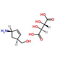 [(1S、4R)-4-アミノシクロペンタ-2-エン-1-イル]メタノール、(2S、3S)-2,3-ジヒドロキシブタン二酸