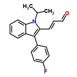 (E)-3-(3-(4-フルオロフェニル)-1-イソプロピル-1H-インドール-2-イル)アクリルアルデヒド
