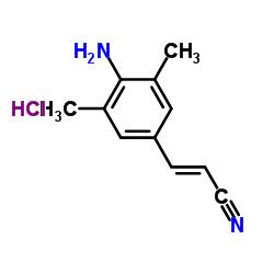 (E)-3-(4-アミノ-3,5-ジメチルフェニル)アクリロニトリル塩酸塩