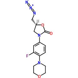 (R)-[N-3-(3-fluoro-4-morpholinylphenyl)-2-oxo-5-oxazolidinyl]methyl azide