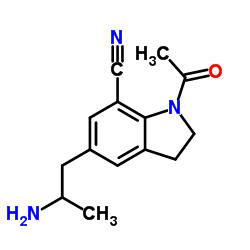 1-Acetyl-5-(2-aminopropyl)-2,3-dihydro-1H-indole-7-carbonitrile