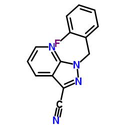 1-[(2-fluorophenyl)methyl]pyrazolo[3,4-b]pyridine-3-carbonitrile