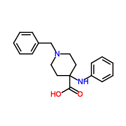 1-Benzyl-4-(phenylamino)piperidine-4-carboxylic acid
