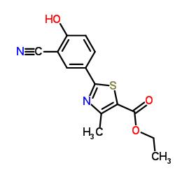 Ethyl 2-(3-cyano-4-hydroxyphenyl)-4-methylthiazole-5-carboxylate