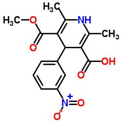 5-(メトキシカルボニル)-2,6-ジメチル-4-(3-ニトロフェニル)-1,4-ジヒドロピリジン-3-カルボン酸