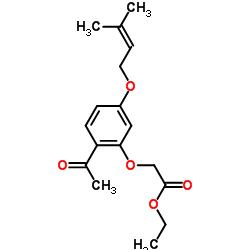 Ethyl 2-(2-acetyl-5-((3-methylbut-2-en-1-yl)oxy)phenoxy)acetate