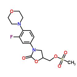 [3-(3-fluoro-4-morpholin-4-ylphenyl)-2-oxo-1,3-oxazolidin-5-yl]methyl methanesulfonate